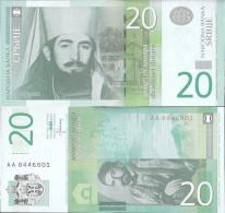 Serbia Pick-number: 55b Uncirculated 2013 20 Dinara - Serbia