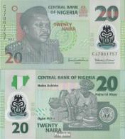 Nigeria Pick-Nr: 34i Bankfrisch 2013 20 Naira - Nigeria