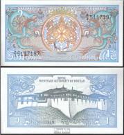 Bhutan Pick-Nr: 12b Bankfrisch 1990 1 Ngultrum - Bhoutan