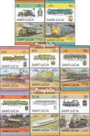 St. Lucia 814-829 Paare (kompl.Ausg.) Postfrisch 1986 Lokomotiven - St.Lucia (1979-...)