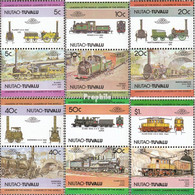Tuvalu-Niutao 9-20 Paare (kompl.Ausg.) Postfrisch 1984 Lokomotiven - Tuvalu