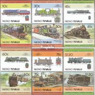 Tuvalu-Niutao 45-56 Paare (kompl.Ausg.) Postfrisch 1985 Lokomotiven - Tuvalu