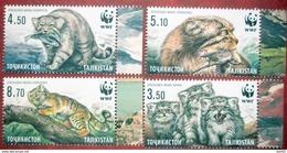 2017 Tajikistan Fauna  WWF  Wild  Cats  4v   MNH - Tajikistan
