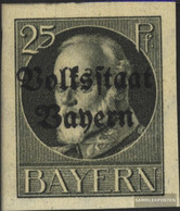 Bavaria 122B Unmounted Mint / Never Hinged 1920 King Ludwig With Print - Bavaria