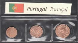 Portugal P1 - 3 Stgl./unzirkuliert Mixed Vintages Stgl./unzirkuliert 2002-2004 Kursmünze 1, 2 And 5 Cent - Portugal