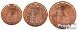 Spanien E1 - 3 Stgl./unzirkuliert Gemischte Jahrgänge Stgl./unzirkuliert 1999-2004 Kursmünze 1, 2 Und 5 Cent - Spain