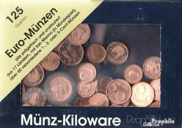 Europa 125 Gramm Münzkiloware Bankfrisch Mit über 40 Verschiedene EURO-Cent-Münzen Aus 17 L - Kilowaar - Munten