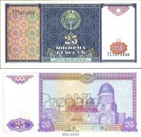 Usbekistan Pick-Nr: 77a Bankfrisch 1994 25 Sum - Usbekistan