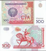 Usbekistan Pick-Nr: 81 Bankfrisch 1999 500 Sum - Usbekistan