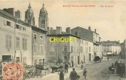 54 St Nicolas Du Port, Rue De Laval, N° 3, Animée, Maréchal-Forgeron...., Affranchie 1909 - Saint Nicolas De Port