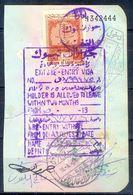 R1- Kingdom Of Saudi Arabia Fiscal Revenue 100 Riyals Stamp On Passport Page Of Pakistan. (Page Is Torn-off & Has Been J - Saudi Arabia