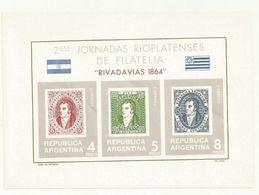 ARGENTINE  BLOC  COMMEMORATIF  RIVADAVIAS  1966  JOURNEE  DE LA PHILATELIE  NEUF SUPERBE - Blocs-feuillets
