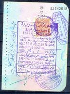 R5- Kingdom Of Saudi Arabia Fiscal Revenue 20 Riyals Stamp On Passport Page Of Pakistan. - Saudi Arabia