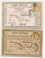 MARNE De EPERNAY  2 CP De 1875 Et 1876 Avec N°59 Oblitéré GC 1389 Et Par Dateur T 17 - 1849-1876: Classic Period