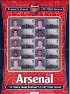 "Great Britain-2003,(Mi.) ""Arsenal""- Sheet,, Football, Soccer, Fussball,calcio,MNH - Famous Clubs"
