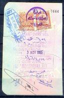 R8- Kingdom Of Saudi Arabia Fiscal Revenue 20 & 80 Riyals Stamp On Passport Page Of Pakistan. (Page Is Torn-off & Has Be - Saudi Arabia