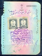 R23- Kingdom Of Saudi Arabia Fiscal Revenue 20, 40 & 40 Riyals Stamp On Passport Page Of Pakistan. - Saudi Arabia