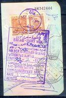 R24- Kingdom Of Saudi Arabia Fiscal Revenue 20, 80 & 100 Riyals Stamp On Passport Page Of Pakistan. (Page Is Torn-off & - Saudi Arabia
