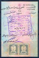 R34- Kingdom Of Saudi Arabia Fiscal Revenue 20 & 20 Riyals Stamp On Passport Page. - Saudi Arabia
