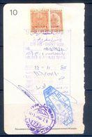R36- Kingdom Of Saudi Arabia Fiscal Revenue 20 & 80 Riyals Stamp On Passport Page. - Saudi Arabia