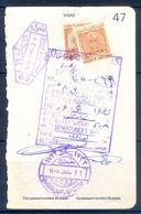 R37- Kingdom Of Saudi Arabia Fiscal Revenue 20 & 80 Riyals Stamp On Passport Page. - Saudi Arabia