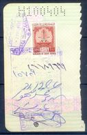 R38- Kingdom Of Saudi Arabia Fiscal Revenue 100 Riyals Stamp On Passport Page Of Pakistan. - Saudi Arabia
