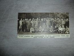 """Origineel Knipsel ( 1429 ) Uit Tijdschrift """" Ons Volk """" : Kruisbooggilde  Tir à L' Arc Boogschieten  Brugge  Bruges 1937 - Alte Papiere"""