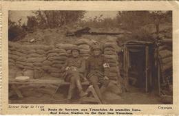 1918- C P A De Secours Aux Tranchées  ( Croix Rouge )  Secteur Belge De L'Yser Pour La France - Belgisch Leger