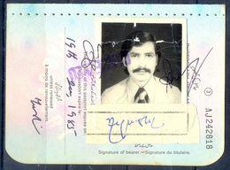 R16- First Page Of Pakistan Passport. - Pakistan