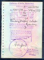 R17- India Visia Page Of Pakistan Passport. - Pakistan