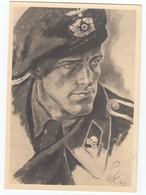 "ältere Kunst-AK Kretschmann ""Panzerspähmann"" ( Militär Wehrmacht Soldat NS-Zeit) Um 1940 - Weltkrieg 1939-45"