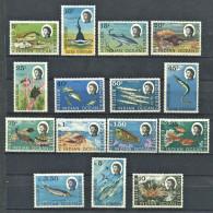 158 Territoire Britannique OCEAN INDIEN 1968 - Faune Marine Poisson Elizabeth II (Yv 16/30) Neuf ** (MNH) Sans Charniere - Territoire Britannique De L'Océan Indien