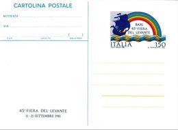 Cartolina Postale C 187 Bari '81 Nuova - 6. 1946-.. Repubblica