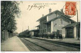 82 - CAUSSADE - L'Arrivée Du Train En Gare - Timbre Rare Seul Sur Lettre - Superbe - - Caussade