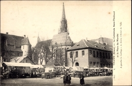 Cp Thann Haut Rhin Lothringen Elsass, La Cathédrale Saint Thiébaud - Otros Municipios