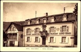 Cp Soultzbach Haut Rhin Lothringen Elsass, Hotel Sans Souci, Xavier Kaeuffer - Otros Municipios