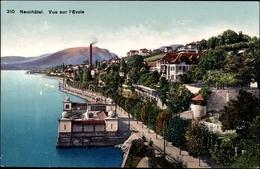 Cp Neuchâtel Neuenburg Stadt, Vue Sur L'Evole, Promenade - NE Neuchâtel