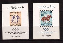 Afghanistan-1962(Mi.Bl.27-28),Football, Soccer, Fussball,calcio,MNH - Soccer