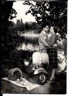 MOTO MOTORCYCLE VESPA FAROBASSO - CARTOLINA PUBBLICITARIA SPEDITA NEL 1951 - Postcards