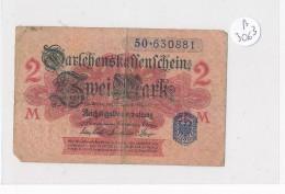 Billets -B3063 -Allemagne -  2 Mark 1914  (type, Nature, Valeur, état... Voir  Double Scan) - [ 2] 1871-1918 : Impero Tedesco