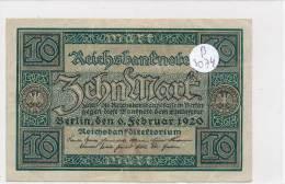Billets -B3074 - Allemagne - 10 Mark 1920 (type, Nature, Valeur, état... Voir  Double Scan) - [ 3] 1918-1933 : Weimar Republic