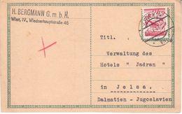 0981  -POSTKARTE   WIEN-JELSA   1927 - 1918-1945 1a Repubblica