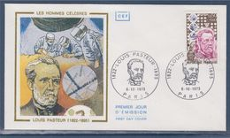 Louis Pasteur Enveloppe Paris 6.10.1973 N°1768 Portrait, Vaccin Contre La Rage - Louis Pasteur
