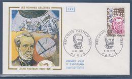 = Louis Pasteur Enveloppe Paris 6.10.1973 N°1768 Portrait, Vaccin Contre La Rage - Louis Pasteur