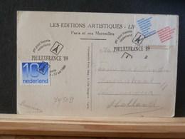 74/509   BRIEFKAART PARIJS  NEDERLAND  1989 - Period 1980-... (Beatrix)