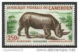 Mmg002 FAUNA NEUSHOORN ZOOGDIEREN RHINO MAMMALS RINOCEROS CAMEROUN 1964 PF/MNH - Rhinozerosse