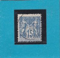 SAGE N°101  CACHET A DATE  MONTMORILLON  /   VIENNE   27 DEC. 1892      - REF 14017 + PIQUAGE - 1876-1898 Sage (Type II)