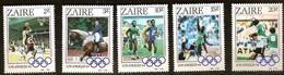 Zaire 1984 Ocbn° 1239-1243 *** MNH Cote 6,00 Euro Sport Jeux Olympiques - Zaïre