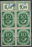 Bund Michel 128, 10 Pf. Posthorn Im Viererblock Vom Oberrand, Postfrisch ** (1-119 - Nuovi