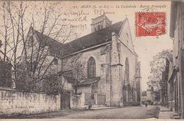 Cp , 47 , AGEN , La Cathédrale , Entrée Principale - Agen